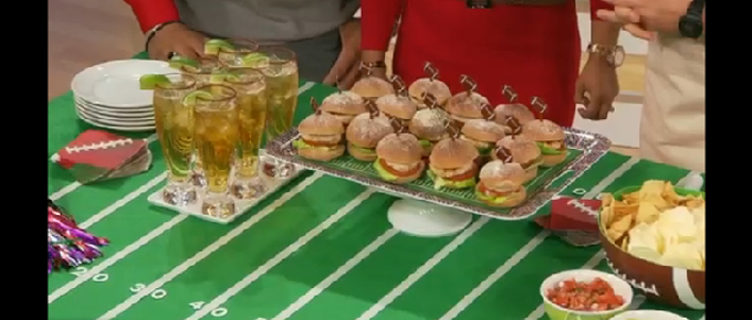 "The Neely's Talk Touchdown Snacks on ABC's ""The Revolution"""