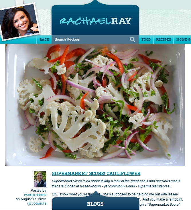 Weekly Blogger on RachaelRay.com