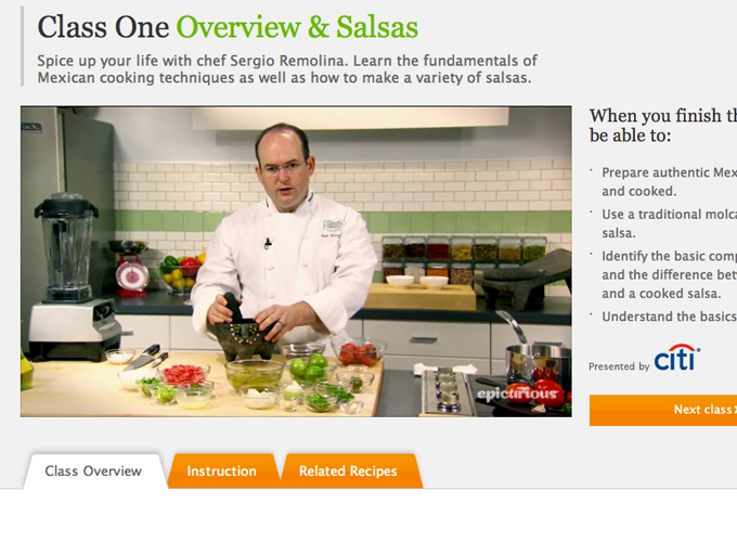 Epicurious.com Online Cooking School with The Culinary Institute of America