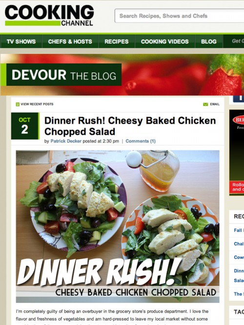 Dinner Rush Cheesy Baked Chicken Chopped Salad cover