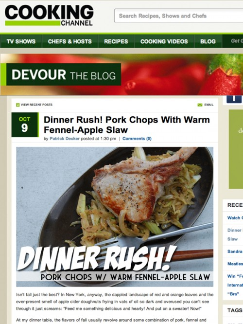 Dinner Rush Pork Chops Cover