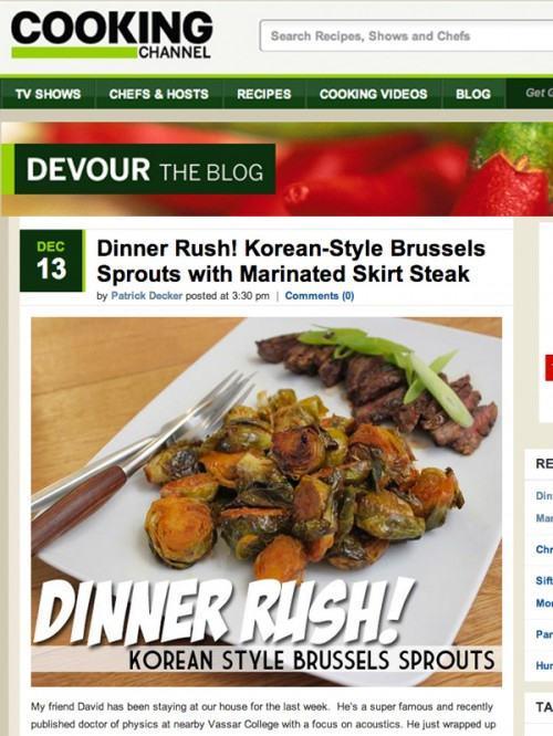 Devour Blog Brussels Sprouts cover