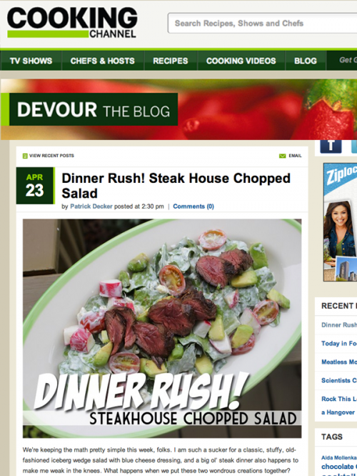 Dinner Rush Steak House Chopped Salad Cover