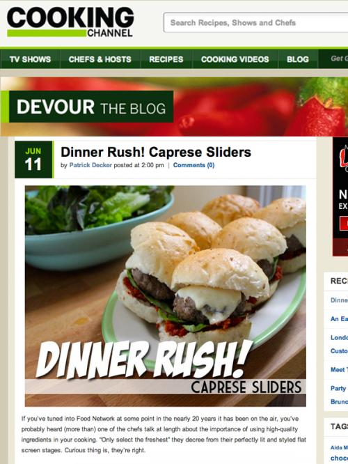 Devour Blog Caprese Sliders cover