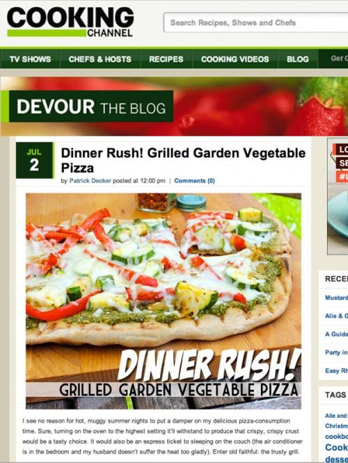 Devour Blog Grilled Garden Veggie Pizza cover