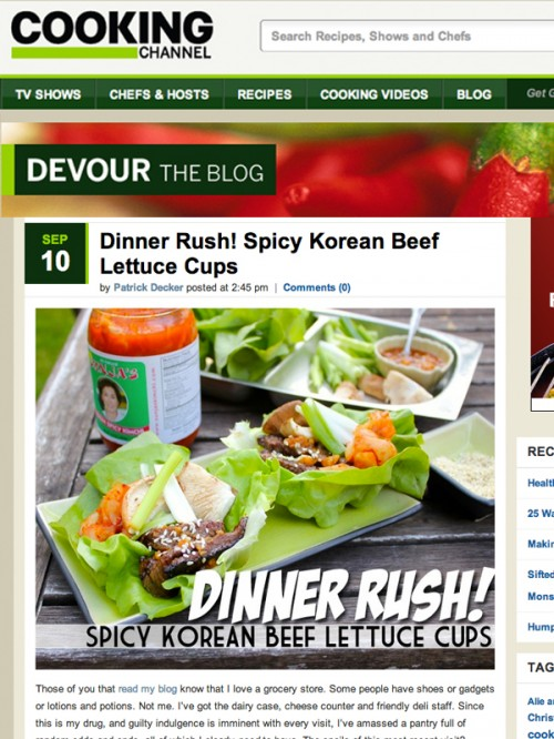 Devour Blog Spicy Korean Lettuce Cups