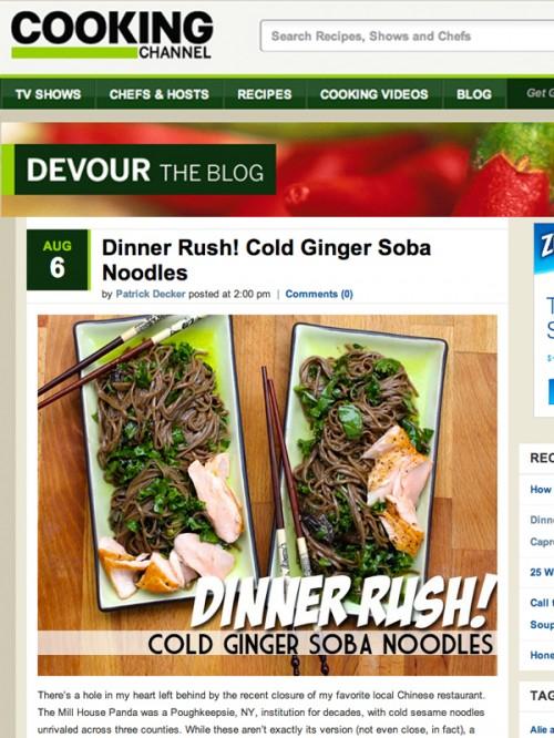 Dinner Rush Cold Ginger Soba Noodles cover