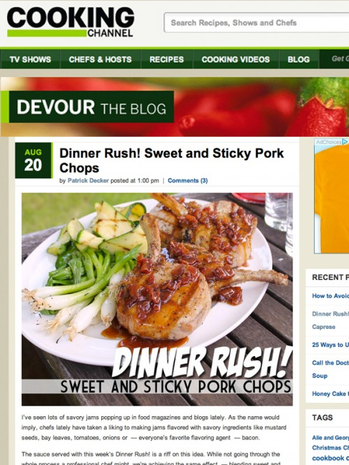Dinner Rush Sweet and Sticky Pork Chops cover