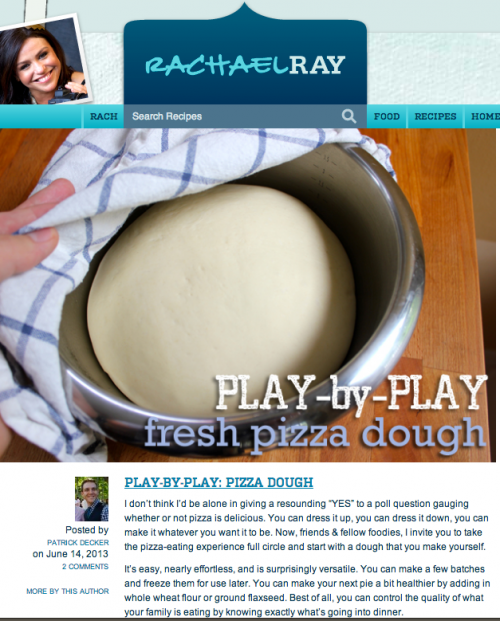 Play By Play Fresh Pizza Dough