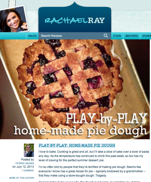 Play By Play Home-Made Pie Dough