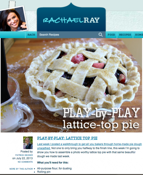 Play By Play Lattice-Top Pie